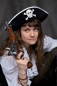 image of crossed pistols  - Girl  - JPG