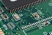 stock photo of pnp  - close up of a printed circuit board - JPG