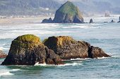 stock photo of mear  - A Beautiful view of Ecola state park