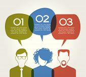 People Chatting. Vector illustration of a communication concept, relating to feedback, reviews and d