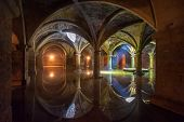 stock photo of cistern  - Ancient Portuguese Cistern in El Jadida Morocco - JPG