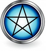 stock photo of baphomet  - Pentacle Glossy - JPG