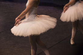 picture of tchaikovsky  - Sigfrido dance with two maiden in the performance of Swan Lake of Pyotr Tchaikovsky  - JPG