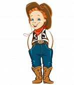 foto of wrangler  - Young cowboy with western hat and boots - JPG