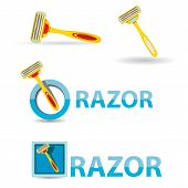 image of razor  - vector razorz icon isolated on white - JPG