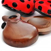 stock photo of castanets  - castanets and typical dot - JPG