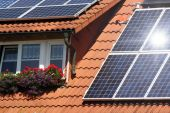 Housetop With Solar poster