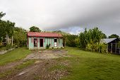 Traditional Rural  House In The Dominican Republic