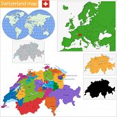 pic of confederation  - Administrative division of the Swiss Confederation - JPG