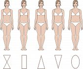 image of knickers  - Vector illustration of woman - JPG