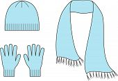 picture of knitwear  - Vector illustration of winter accessories - JPG