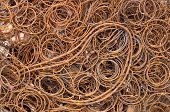 pic of ferrous metal  - View of rusted old bed spring for scrap metal - JPG