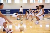 pic of 13 year old  - High School Students Playing Dodge Ball In Gym - JPG