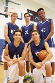 image of 16 year old  - Members Of Male High School Basketball Team - JPG