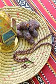 picture of prayer beads  - Top view of an arabic dates - JPG