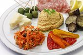 foto of antipasto  - homemade assortment of appetizers - JPG