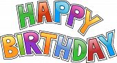 image of happy birthday card  - Happy birthday graffiti - JPG