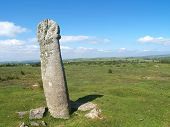 stock photo of minion  - Ancient stone age monument on Bodmin Moor - JPG