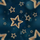 picture of iron star  - Night stars seamless pattern on the blue background - JPG