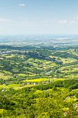 image of apennines  - Rolling Hills of the Apennine Mountains Piacenza Italy - JPG