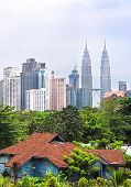 picture of klcc  - Old and new architecture of Kuala Lumpur. Malasia