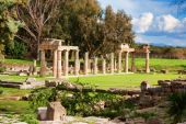picture of artemis  - Remains of the Sanctuary of Artemis at Vravrona in Greece - JPG