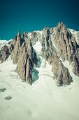 image of crevasse  - Massif de mont Blanc on the border of France and Italy - JPG