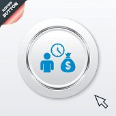 pic of borrower  - Bank loans sign icon - JPG