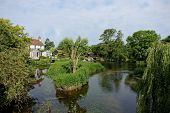 picture of water-mill  - An old riverside mill - JPG
