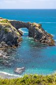 pic of mendocino  - A view of the coast of Mendocino with a natural arc - JPG