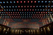 foto of turin  - Central square covered with Christmas lights in Turin - JPG