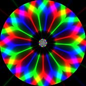 image of trippy  - Abstract crazy colorful background on black background - JPG