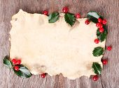 picture of aquifolium  - Empty paper with European Holly  - JPG
