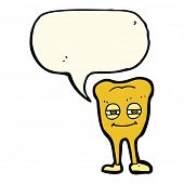 picture of gold tooth  - cartoon gold tooth - JPG