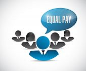 foto of equality  - equal pay people sign illustration design over white - JPG