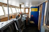 image of nautical equipment  - Ship control bridge navigation nautical drive sea - JPG