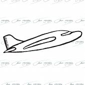 picture of bon voyage  - Abstract seamless pattern with plane - JPG