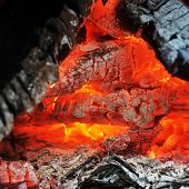 pic of ashes  - Burning down fire - JPG
