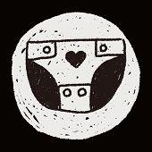 image of diaper  - Diapers Doodle Drawing - JPG