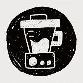 foto of juicer  - Juicer Doodle Drawing - JPG