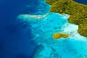 picture of pacific islands  - Beautiful view of Palau tropical islands and Pacific ocean from above - JPG
