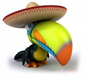 picture of toucan  - Fun toucan - JPG
