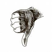 image of dislike  - vector hand drawn dislike - JPG
