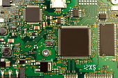 stock photo of processor  - Closeup of electronic circuit board with processor - JPG