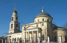 stock photo of ascension  - Temple of Great Ascension Nikitsky Gate - JPG