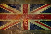 stock photo of jacking  - Illustration of a grunge style British flag  - JPG