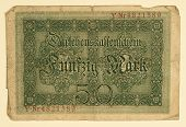 Antique 1914 German 50 Mark, Back