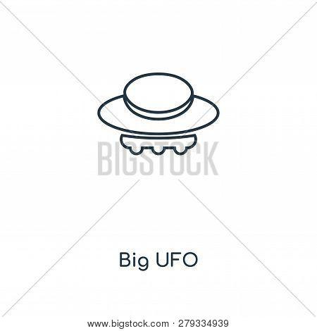 Big Ufo Icon In Trendy