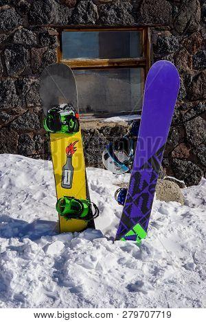 Snowboarding And Skiing Ski Trail