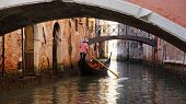 Gondolier In Venice, Italy.venice Is A Beautiful City Of Italy poster